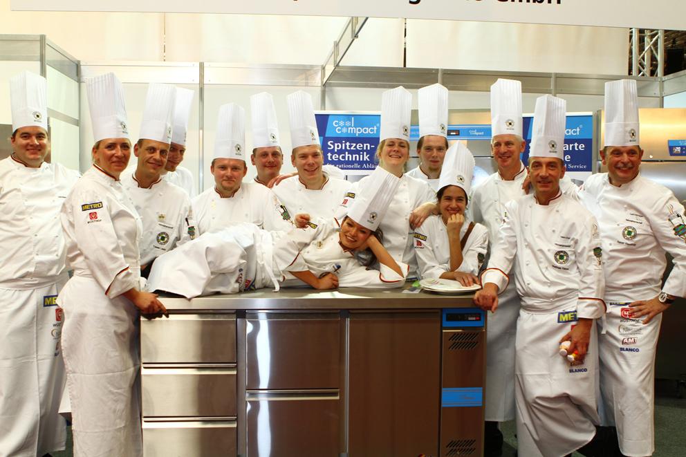 Unitess Cool-Compact Kochnationalmannschaft in Zuverlässig während der Kocholympiade in Erfurt - Kühlgeräte der Magnos-Serie von Cool Compact