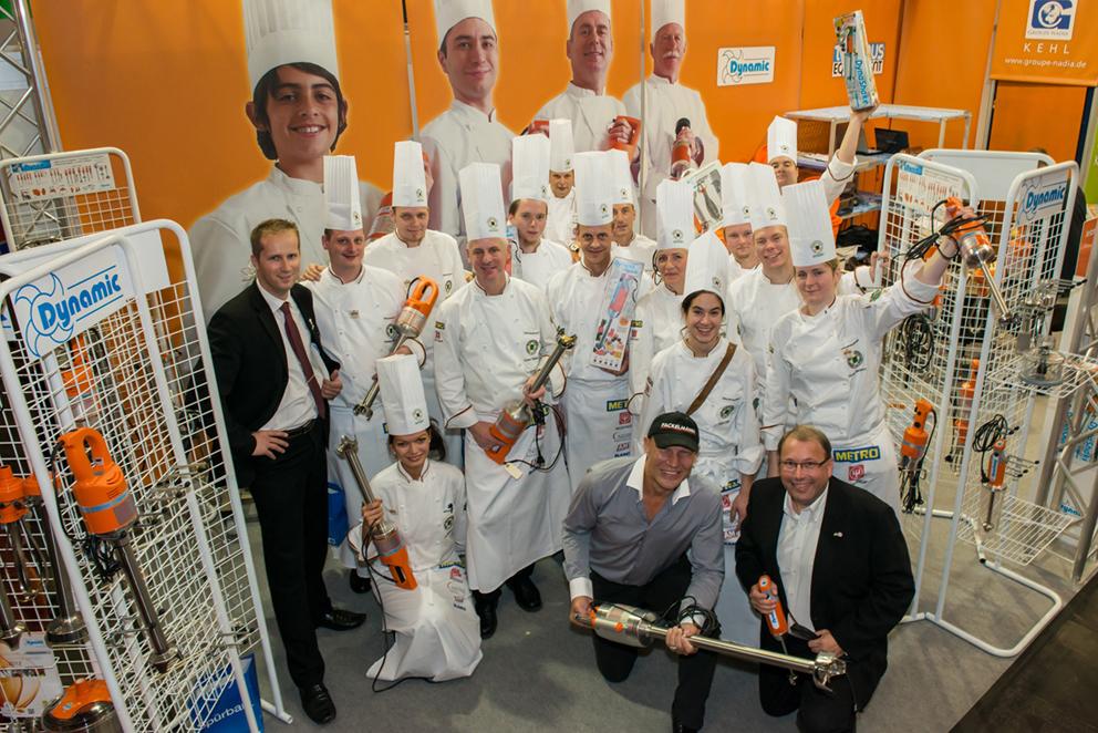 Unitess Dynamic Kochnationalmannschaft in Groupe Nadia - gute Kontakte auf der Kocholympiade in Erfurt