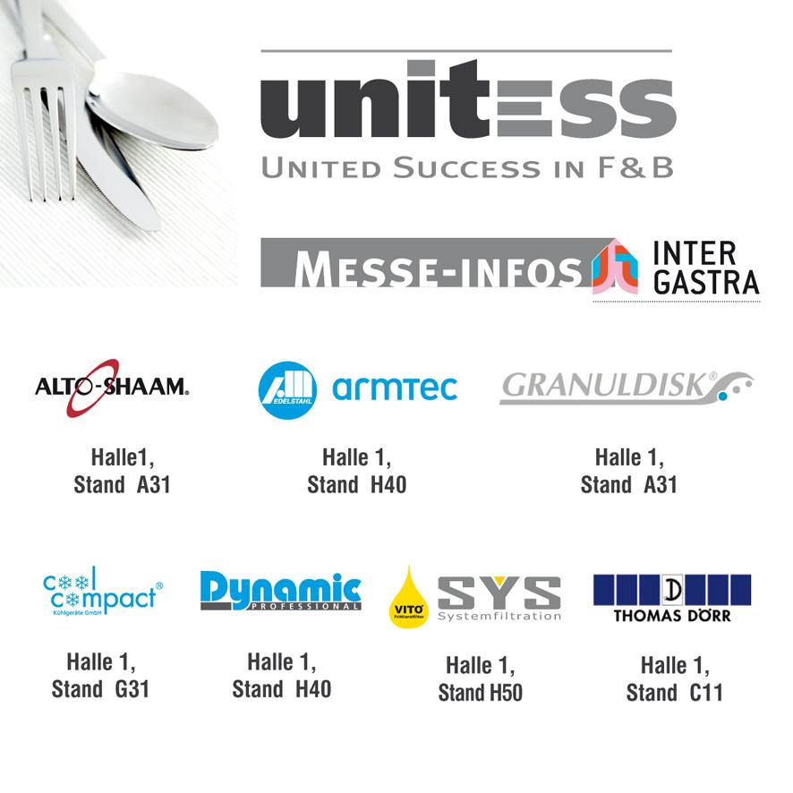 Standnummern Intergastra-2014 in unitess auf der Intergastra