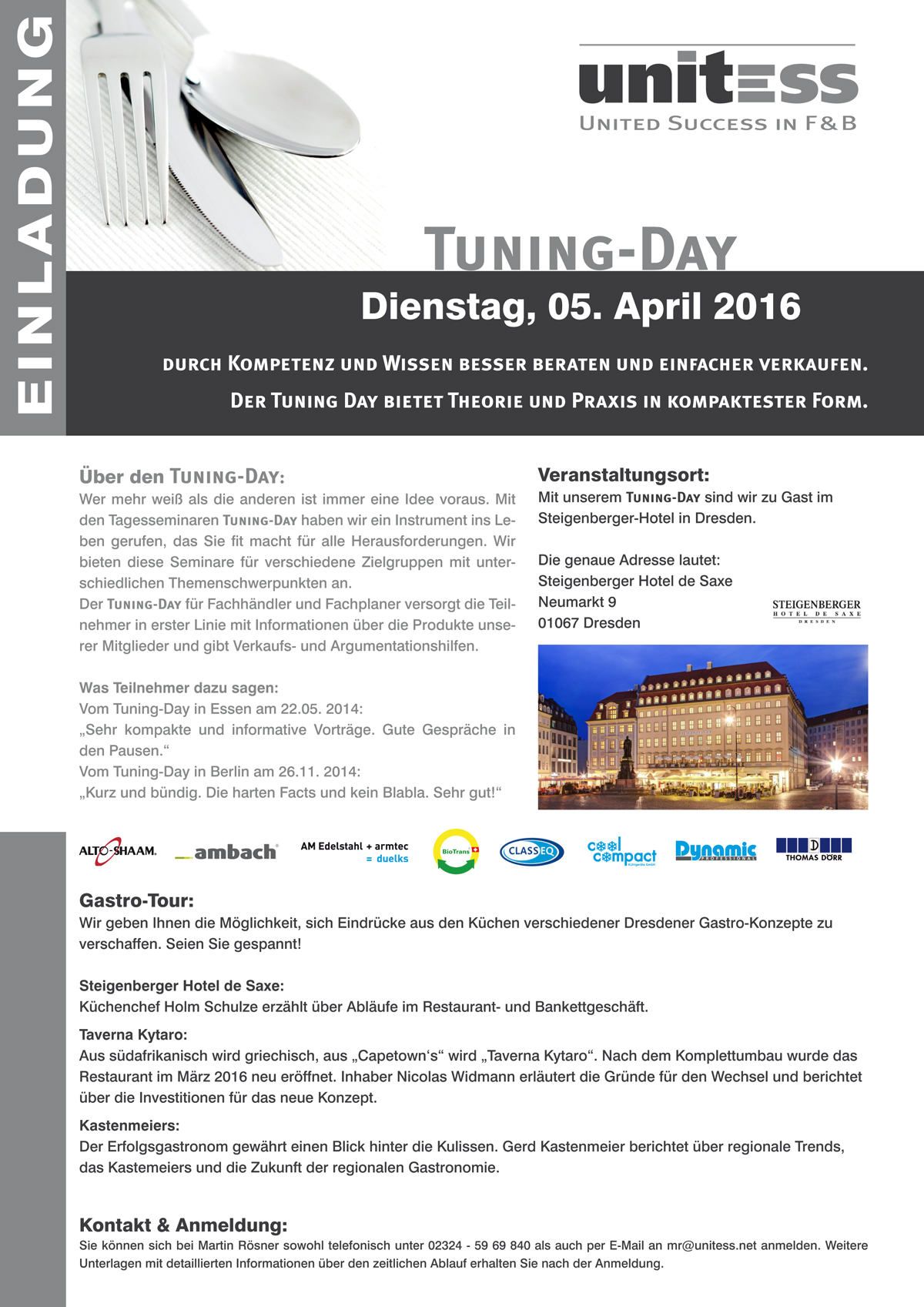 Unitess Einladung Tuning-Day 2016 Dresden Print in Tuning-Day in Dresden